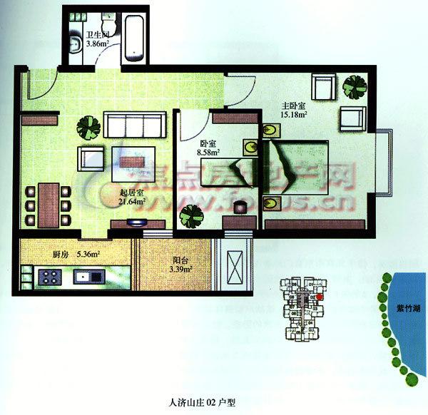 五,通讯:每户入户二条idd线路,客厅与主卧室均设置电话插座